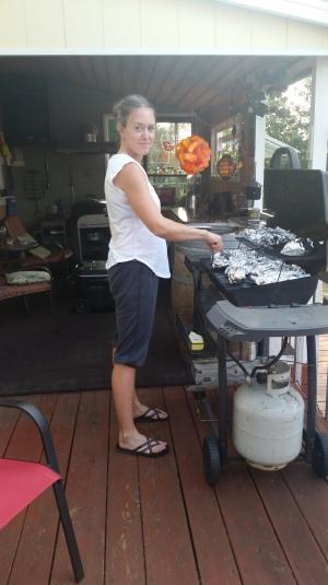 Girl grillin'!