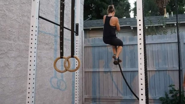 My first rope climb to the top!